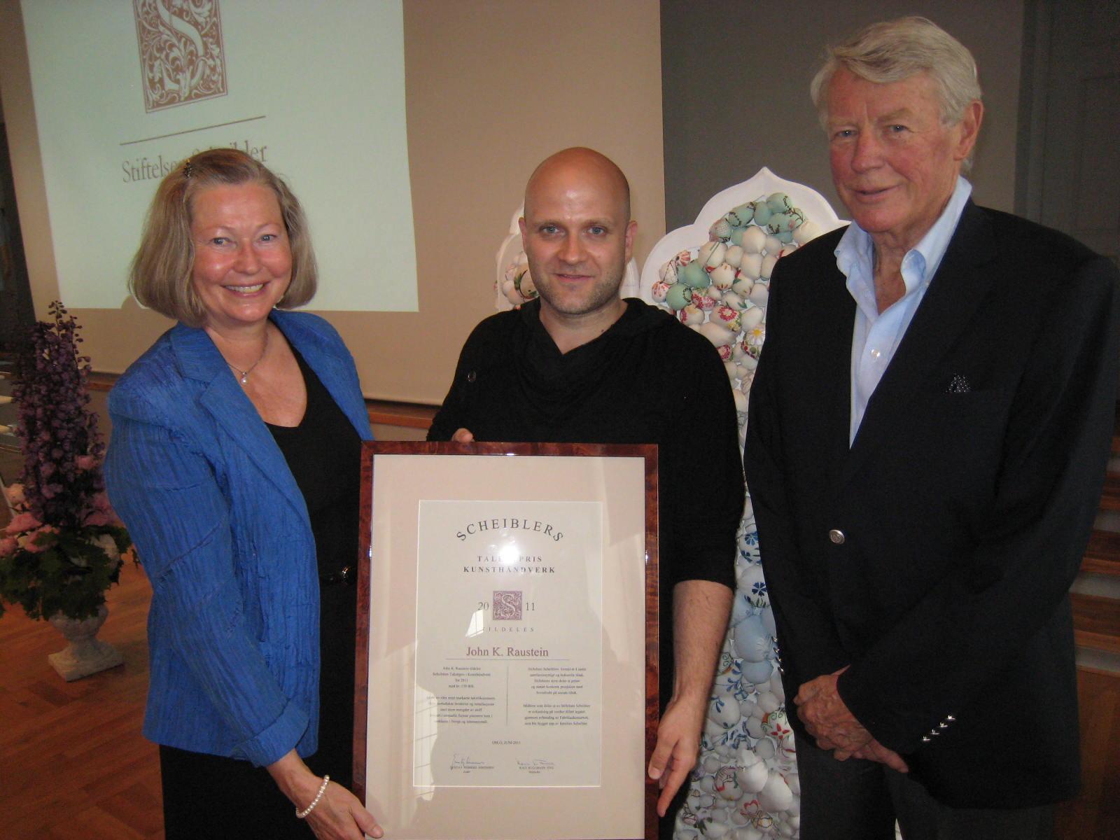 2011 Talentpris i kunsthåndverk: John K. Raustein