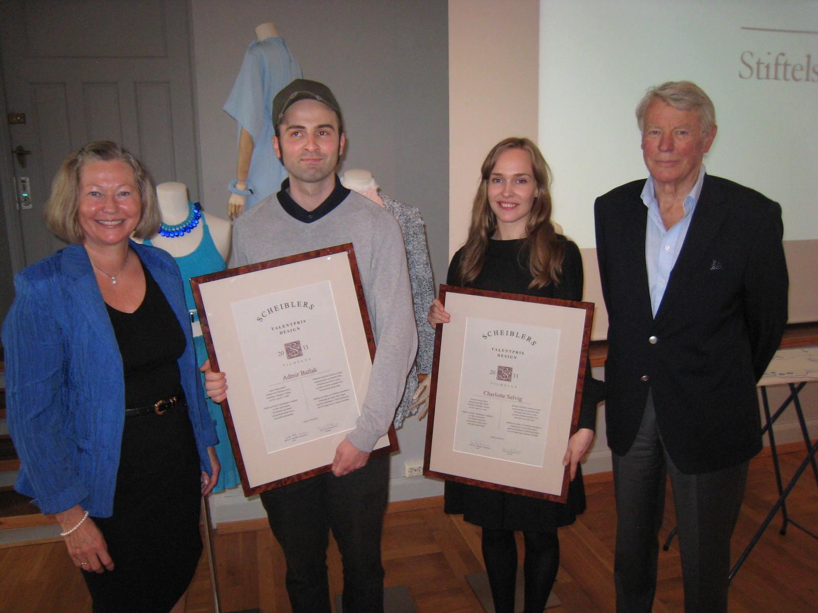 2011 Talentpris i design: Admir Batlak pg Charlotte Selvig