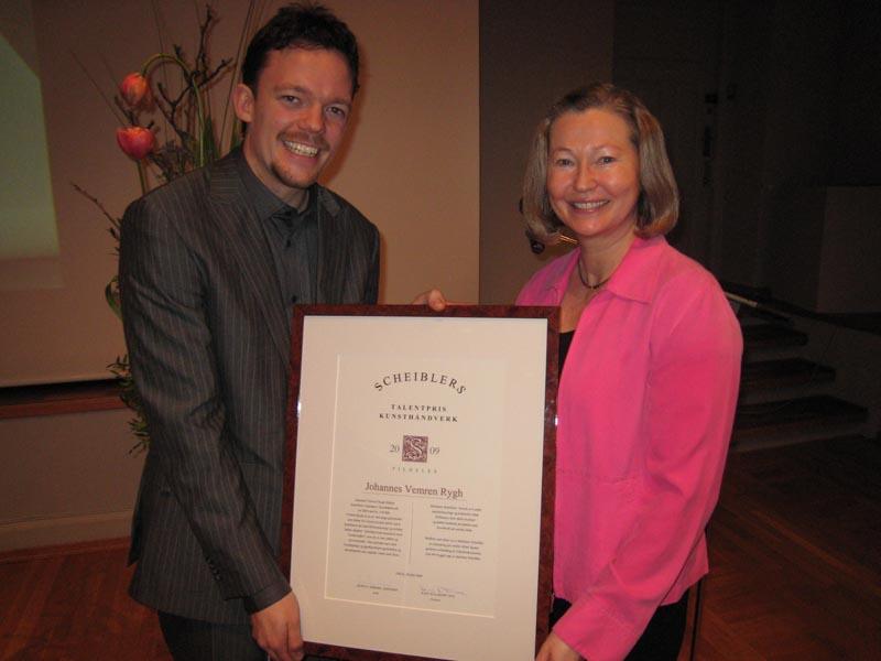 2009 Talentpris i kunsthåndverk: Johannes Vemren Rygh
