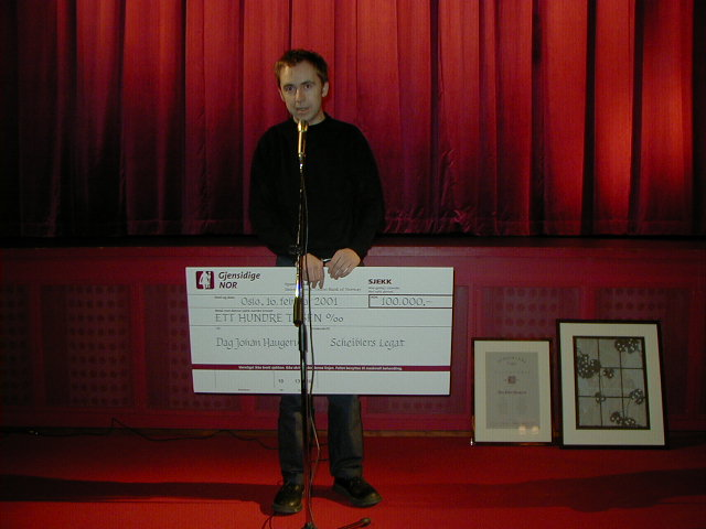 2001 Talentpris kortfilm: Dag Johan Haugerud