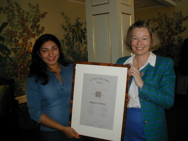 2002 Hederspris: Shabana Rehman