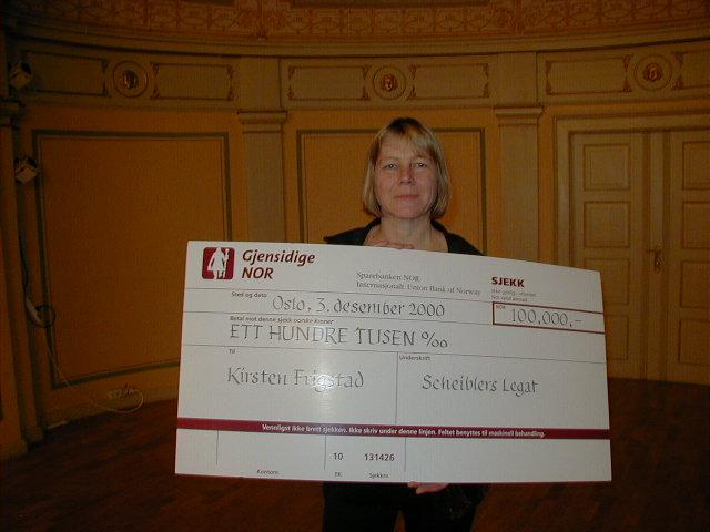 2000 Hederspris: Kirsten Frigstad